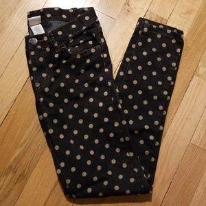 90e31cc6c0927 Harajuku Mini For Target Polka Dot Jeans size 10